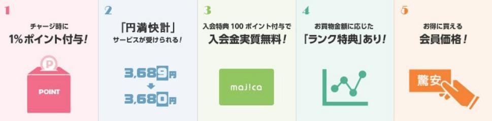 マジカ5つのお徳