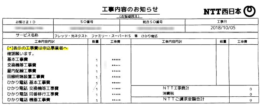 NTT工事費