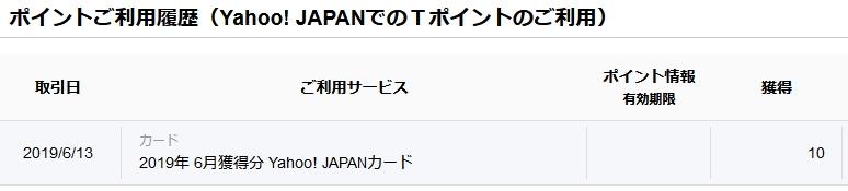 Yahoo!カードTポイント