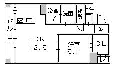 1LDK間取図